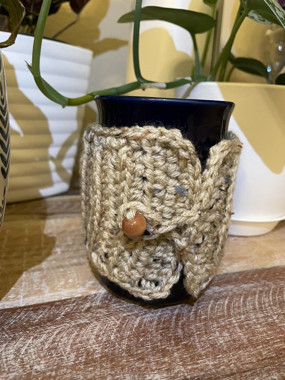 Buff Fleck Cup & Mug Cozy Set