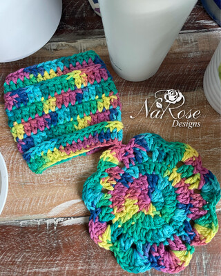 Rainbow Cup Cozy And Coaster Set
