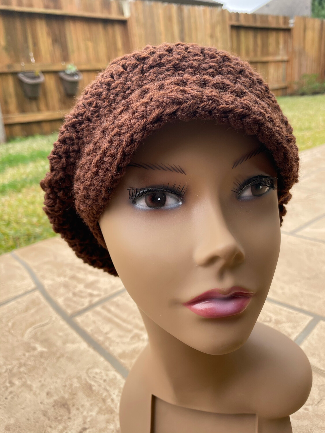 Get Down Brown Slouchy Hat with Brim