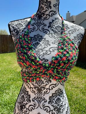 Colorful Wrap Bikini Top
