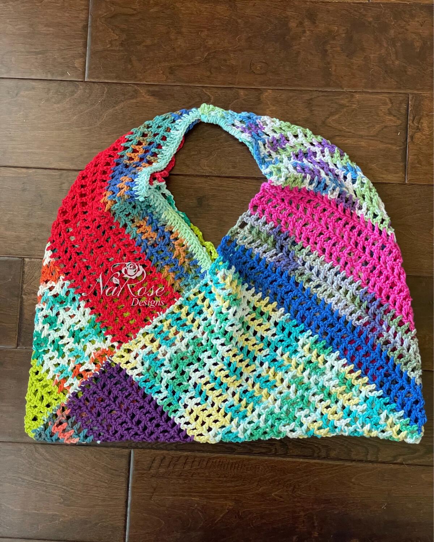 Colorful Remant Mesh Bag