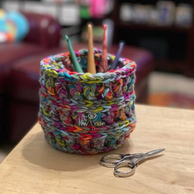 The Perfect Little Rainbow Basket/ Planter Basket