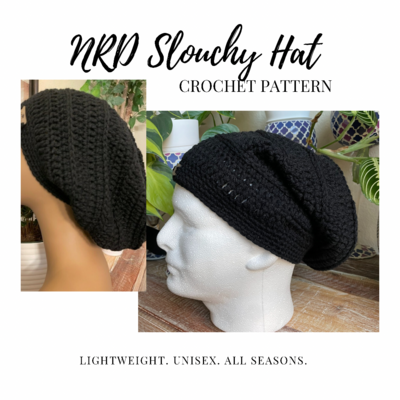 PATTERN Only NRD Simple Slouchy Hat Crochet PDF