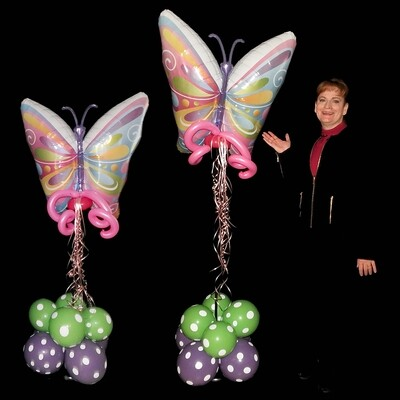 Butterfly Topiaries by Crazy Balloon Delivery Company of Lansdale