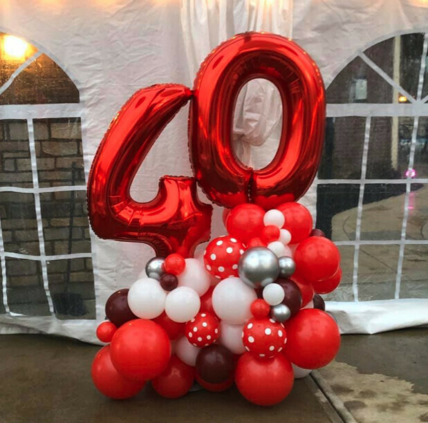 Jumbo birthday number marquee, 2 digits, deluxe balloon decoration