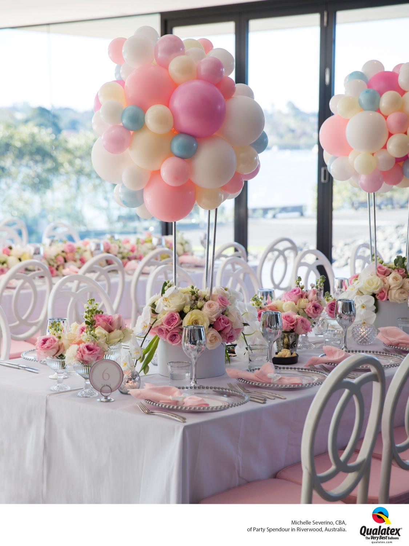 Elegant organic topiary centerpiece balloon decoration