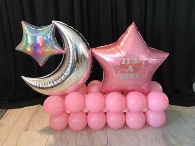 Baby shower balloon decoration marquee