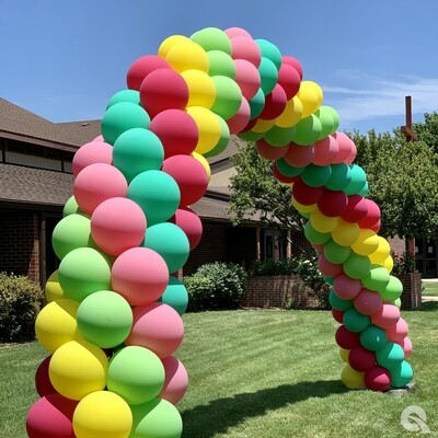 Plump balloon arch, including installation