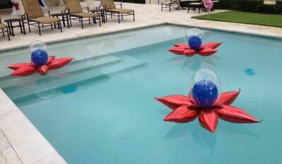 Pool balloon decorations that float