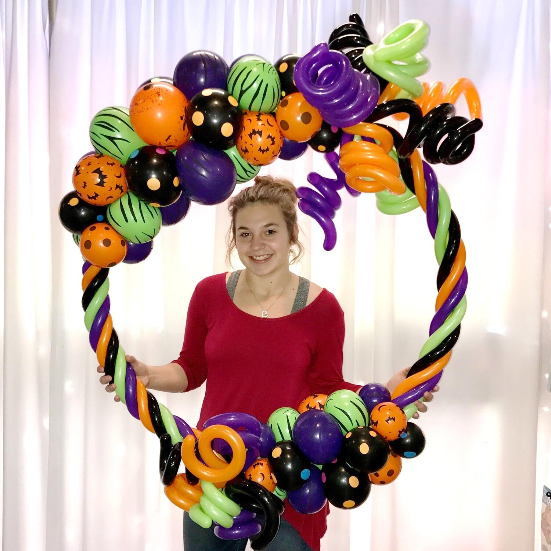 Round crazy photo frame balloon decoration