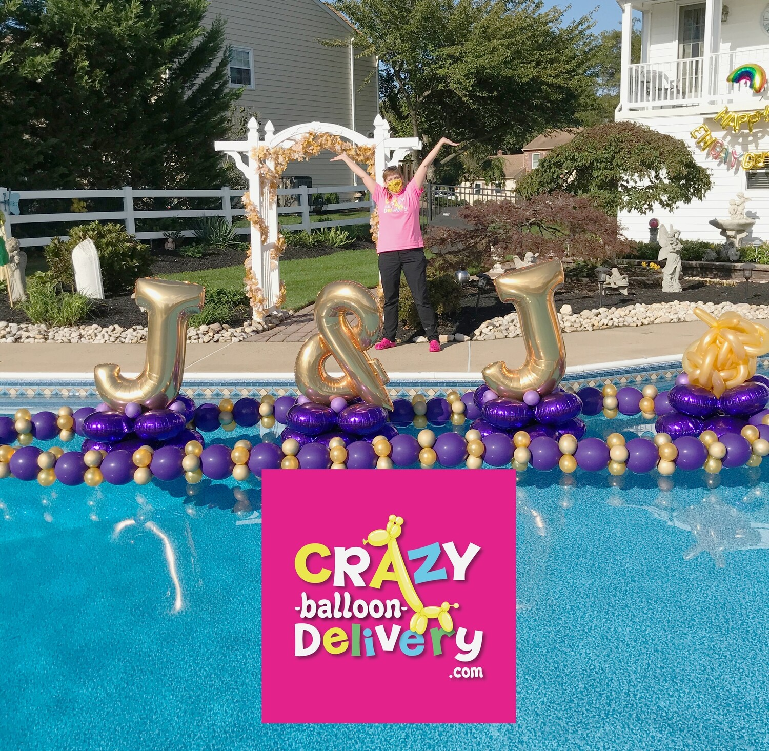 Spell anything with balloon letter centerpiece or pool float