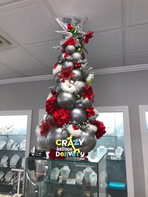 No mess balloon Christmas tree decoration (indoors) - never drops needles