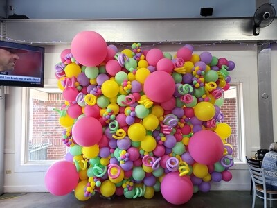 Balloon walls, organic indoors (varying sized bubbles)