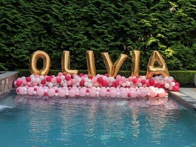 Giant balloon letter decorations, air filled