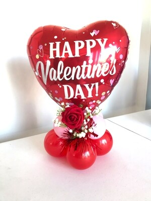 Valentine's Day heart balloon bouquet air filled