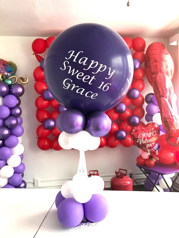Love note balloon bouquet, valentine or birthday balloon
