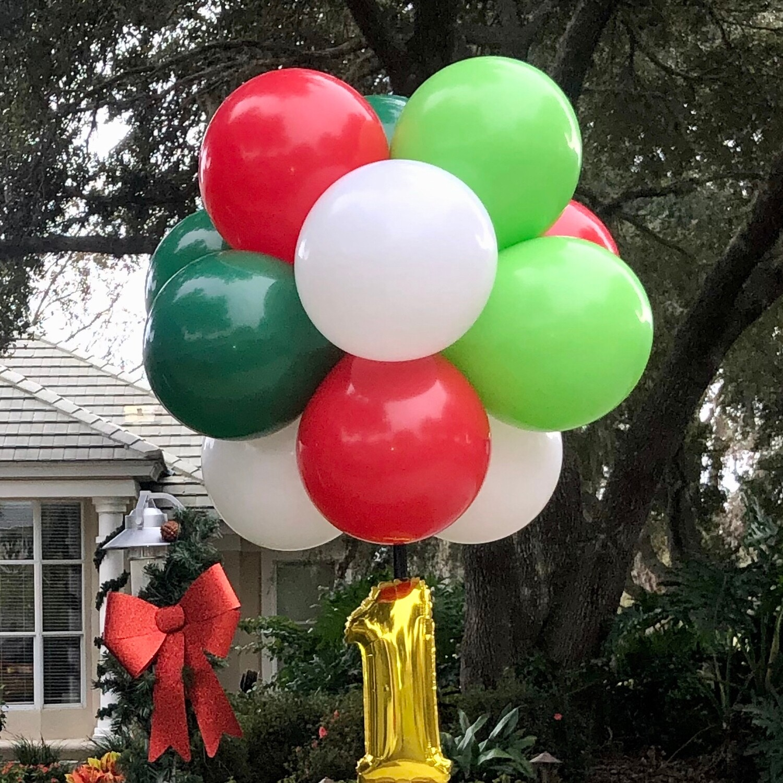 Balloon topiary pompom
