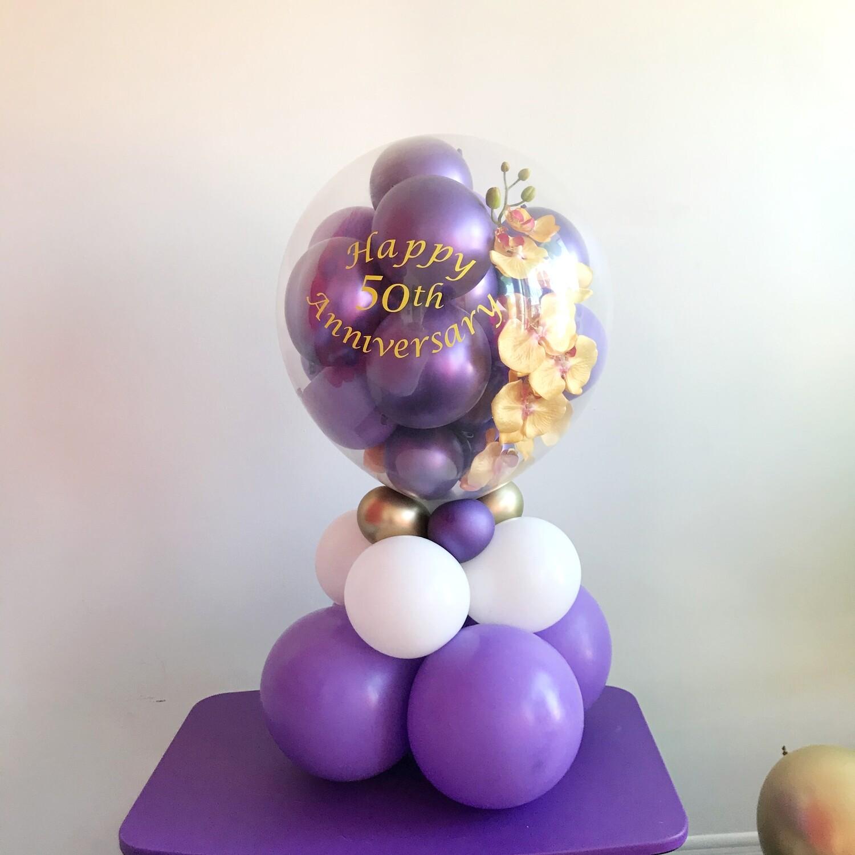 Gift in a balloon, bear in a balloon, stuffed balloon