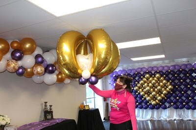 Giant foil Chandelier Balloon Decorations