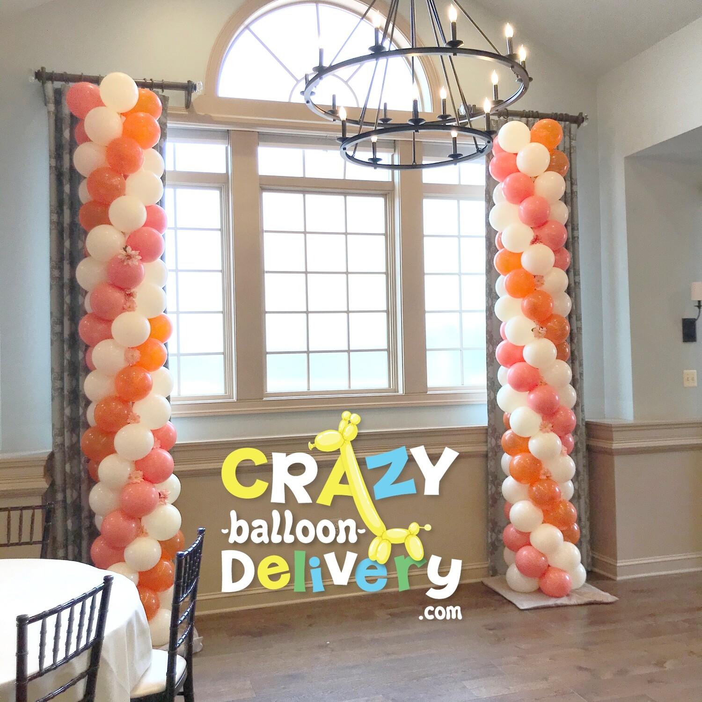 Classic  balloon column, uniform bubbles