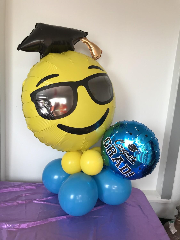 PERSONALIZED giant emoji graduation balloon bouquet