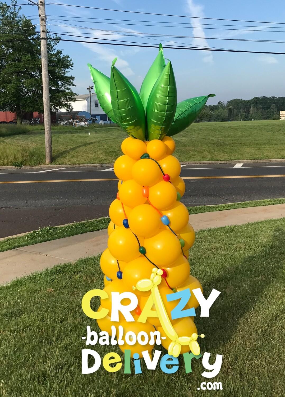Custom pineapple balloon column
