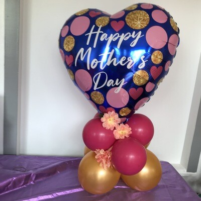 Balloon Bouquet, artist's choice from in stock colors, over 3  feet tall