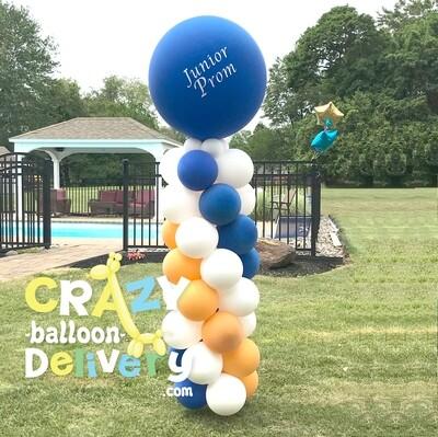 Classic balloon column with big ball topper