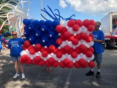 Balloon flag for parade
