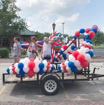 Parade float bubbles