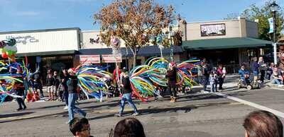 Parade firework balloon backpacks
