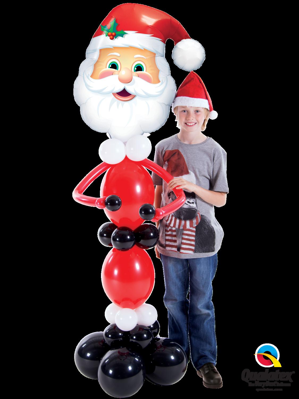 Big Santa, helium filled (indoors only)