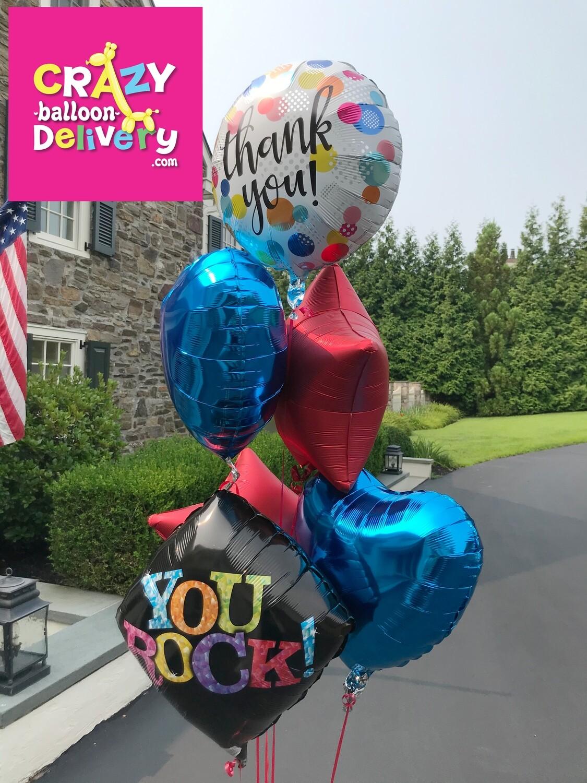 Big helium foil balloon bouquets (latex free hospital friendly)