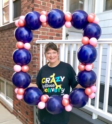 Single square crazy photo balloon frame balloon, air filled
