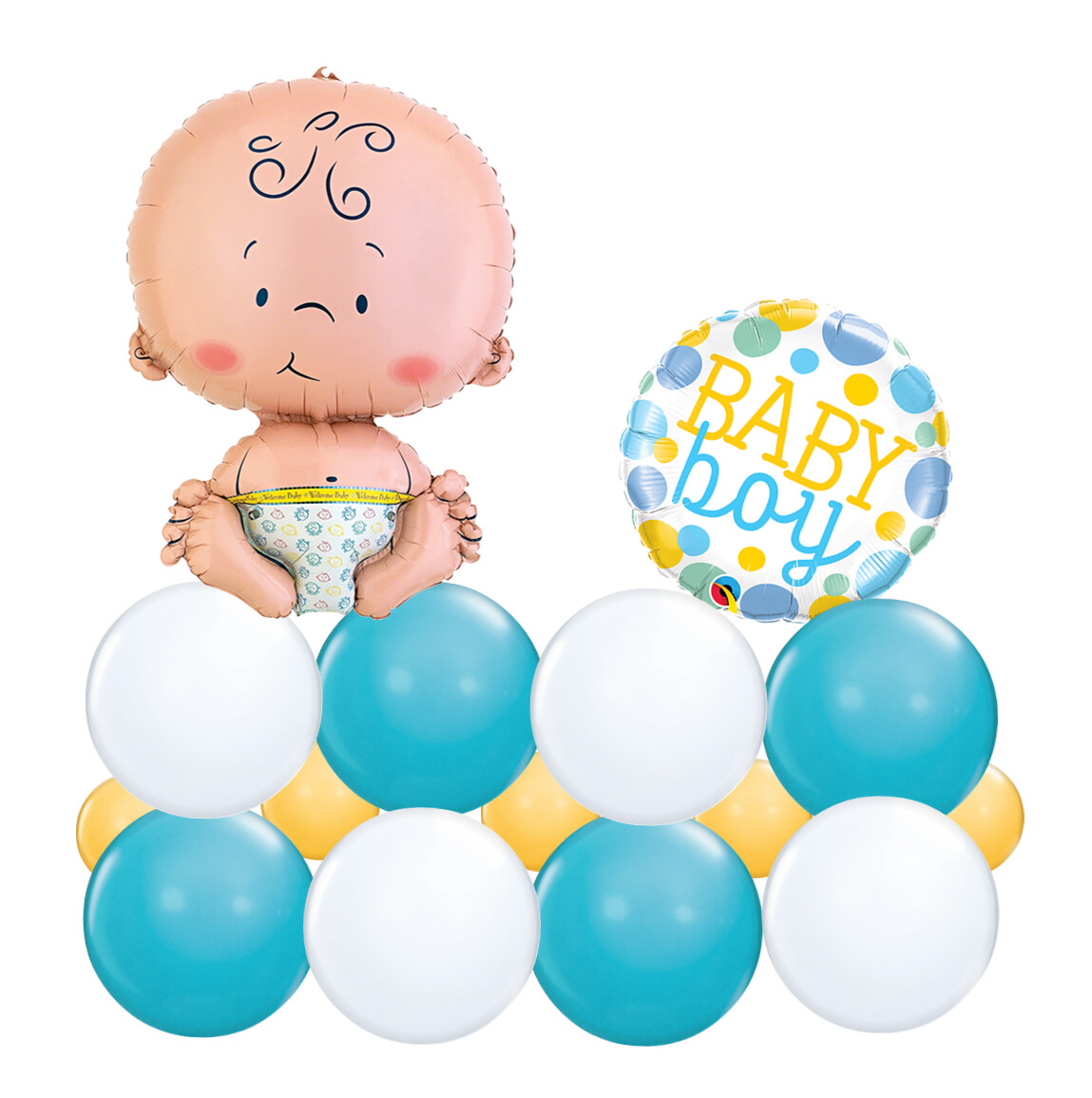 Baby Boy Balloon Marquee for Baby Shower, air filled long lasting