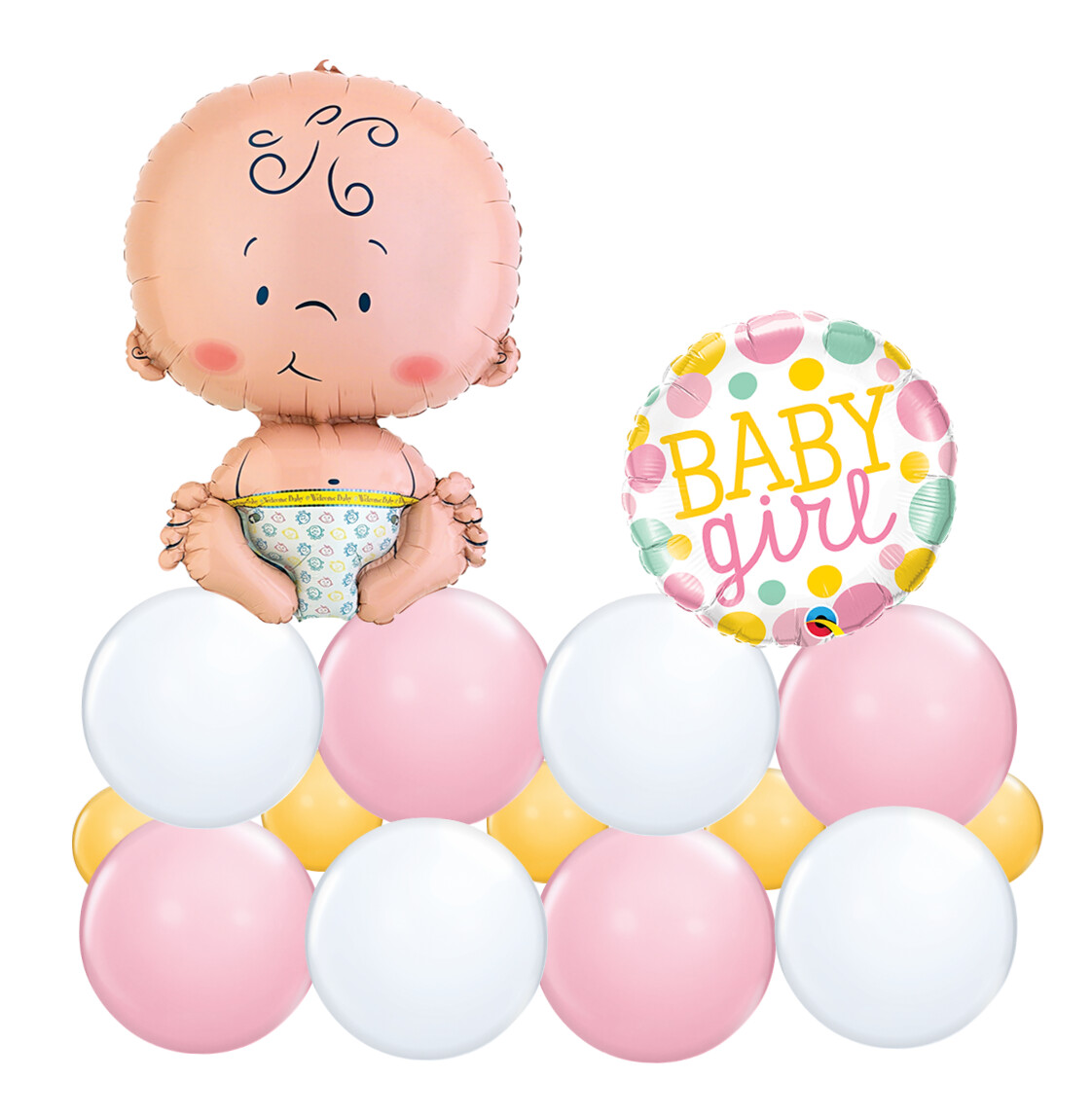 Baby Girl Balloon Marquee for Baby Shower, air filled long lasting