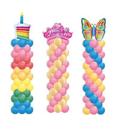 Big birthday balloon column, cake, birthday princess or butterfly
