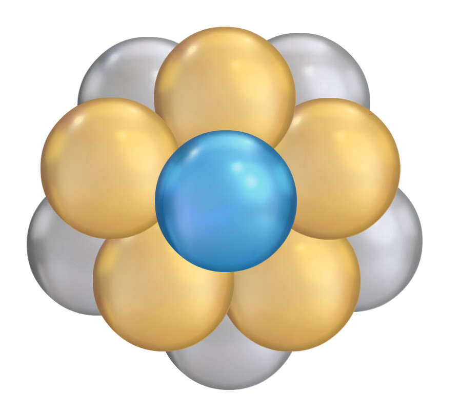 Balloon pompomtie-on cluster