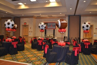 """Sports centerpieces appear to """"float"""" for days not just hours. Helium Free."""