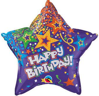 Purple birthday star, 20 inches