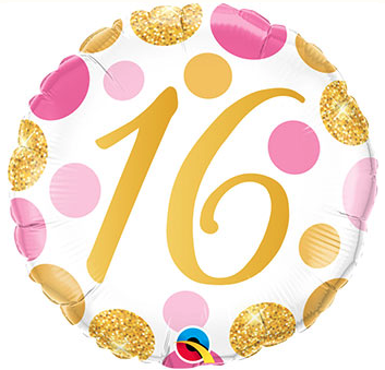 Sweet 16 foil birthday balloon, 18 inches