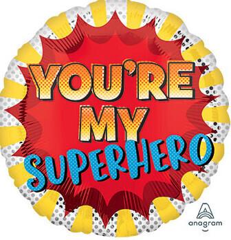 You're my superhero balloon, 18 inches
