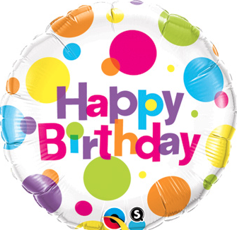 Birthday dots foil, 18 inches