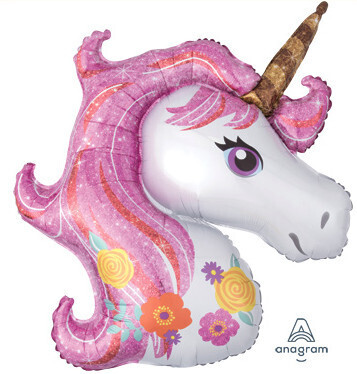 Big unicorn head, 33 inches (colors may vary)
