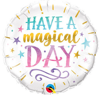 Foil have a magical day balloon, 18 inches
