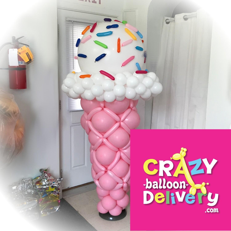 Giant Ice Cream Cone Balloon Decoration