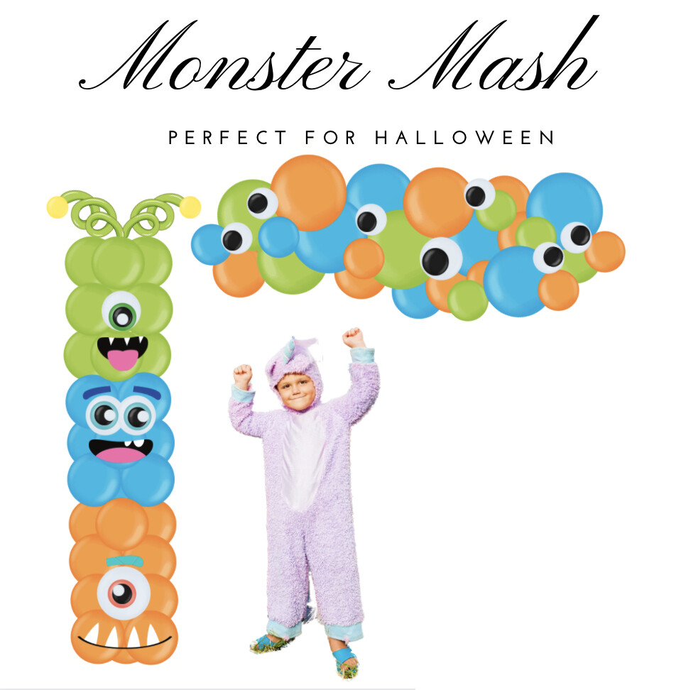 Monster mash halloween balloon decoration, assembly included.