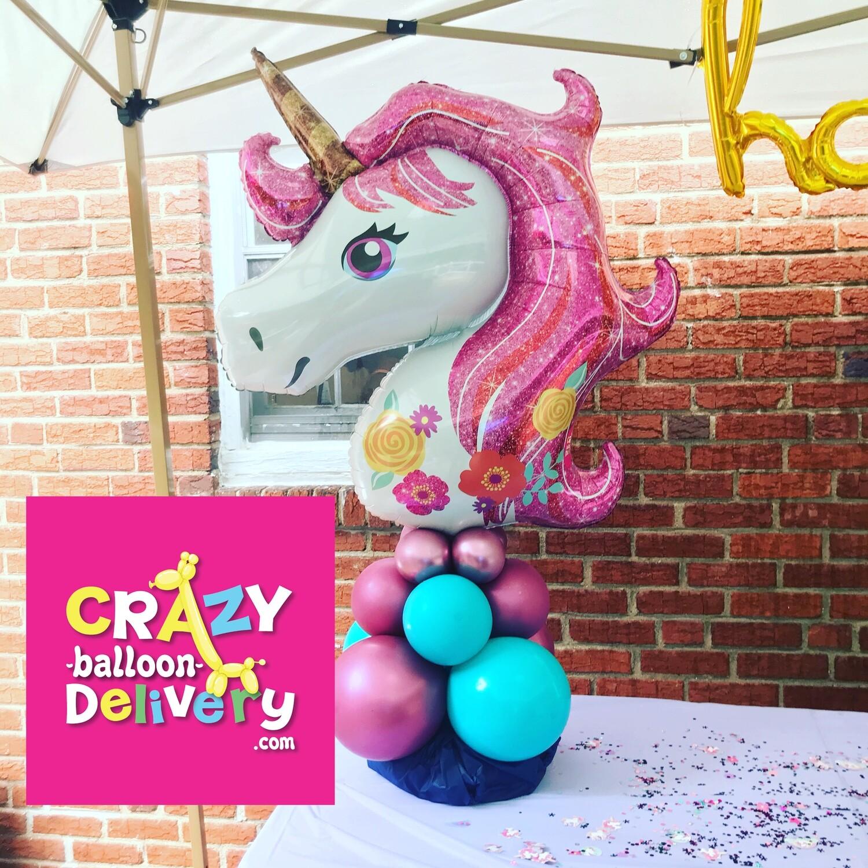 Big unicorn balloon decoration, air filled