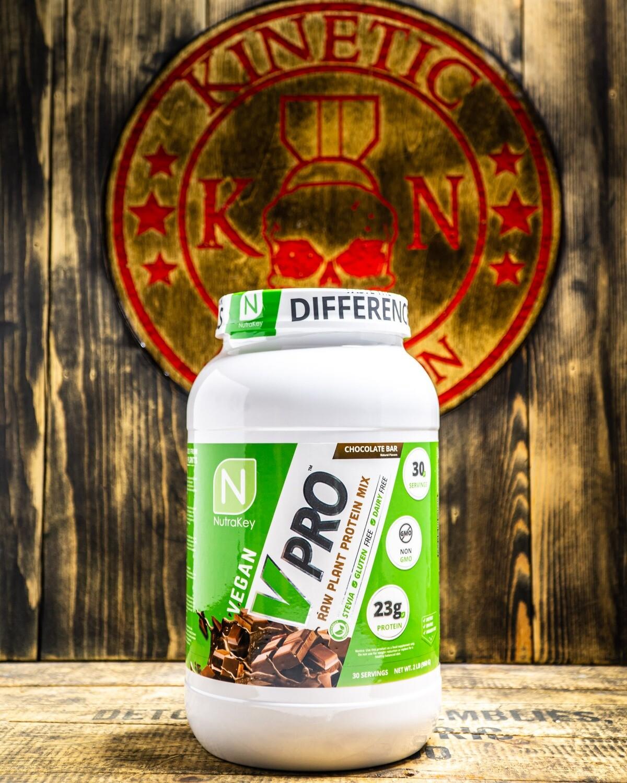 Nutrakey, Vpro, Raw Plant Protein, 2Lb Chocolate Bar
