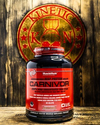 Musclemeds, Carnivor, Beef Protein, 4.2 Lb, Vanilla Caramel